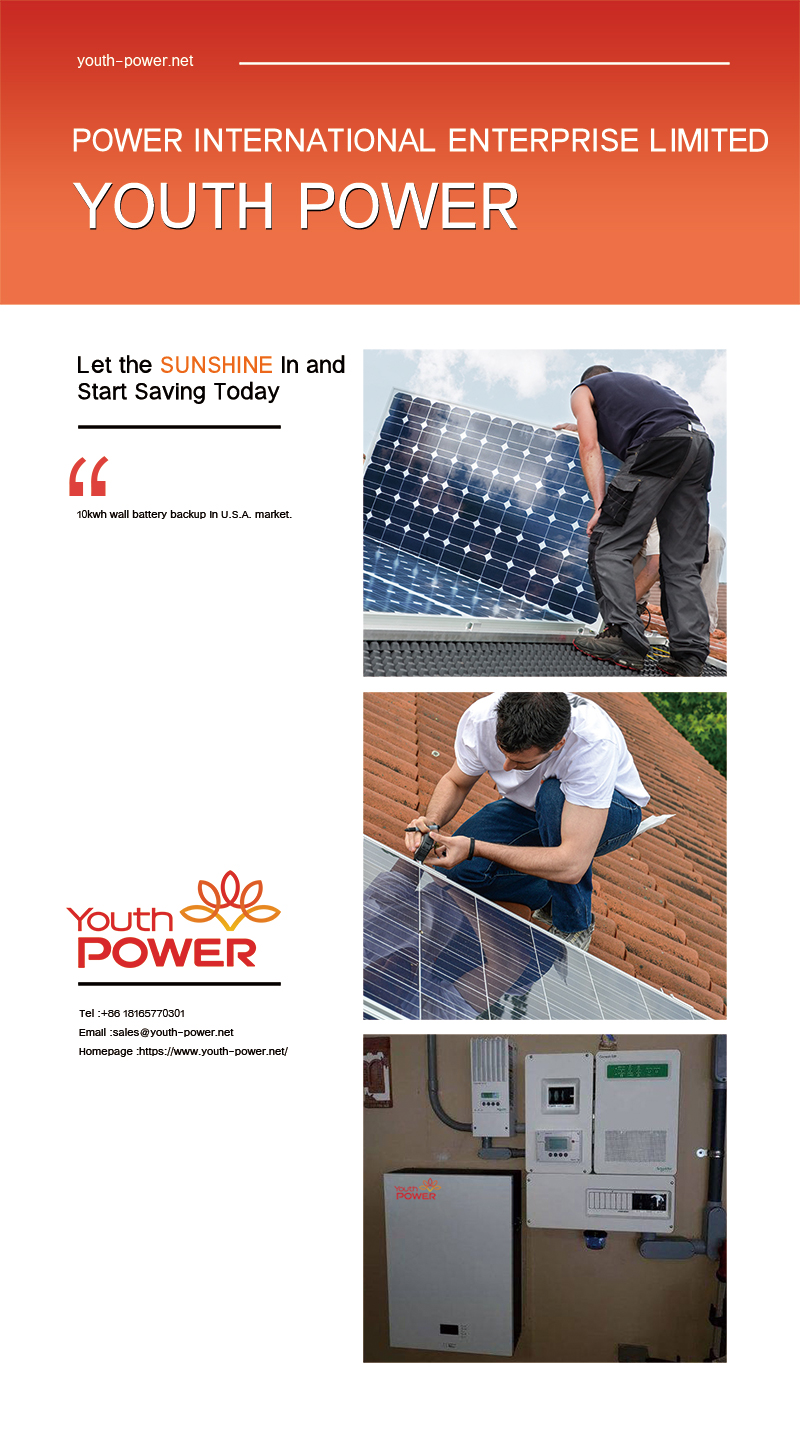 10kwh wall battery backup in U.S.A. market