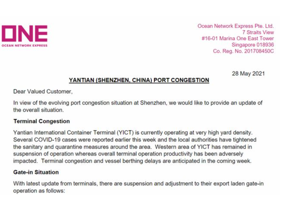 Guangdong port congestion affect the global supply chain